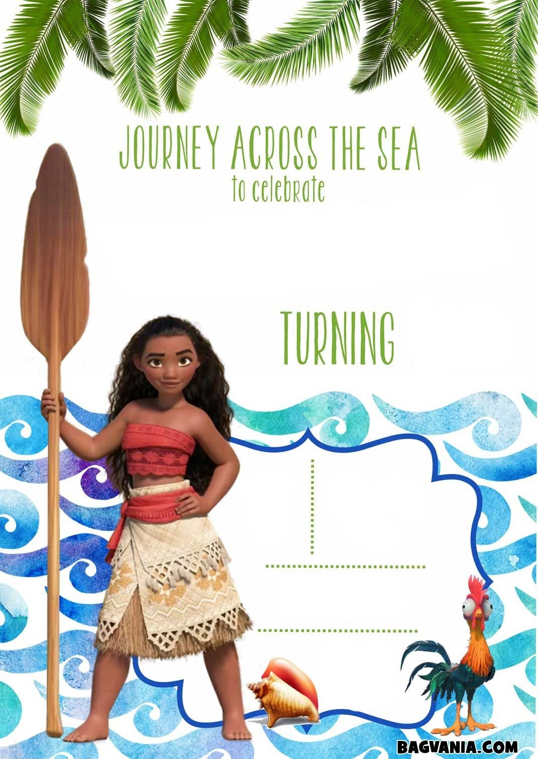 Download Now Free Printable Moana Birthday Invitation Templates - Free Printable Moana Birthday Invitations
