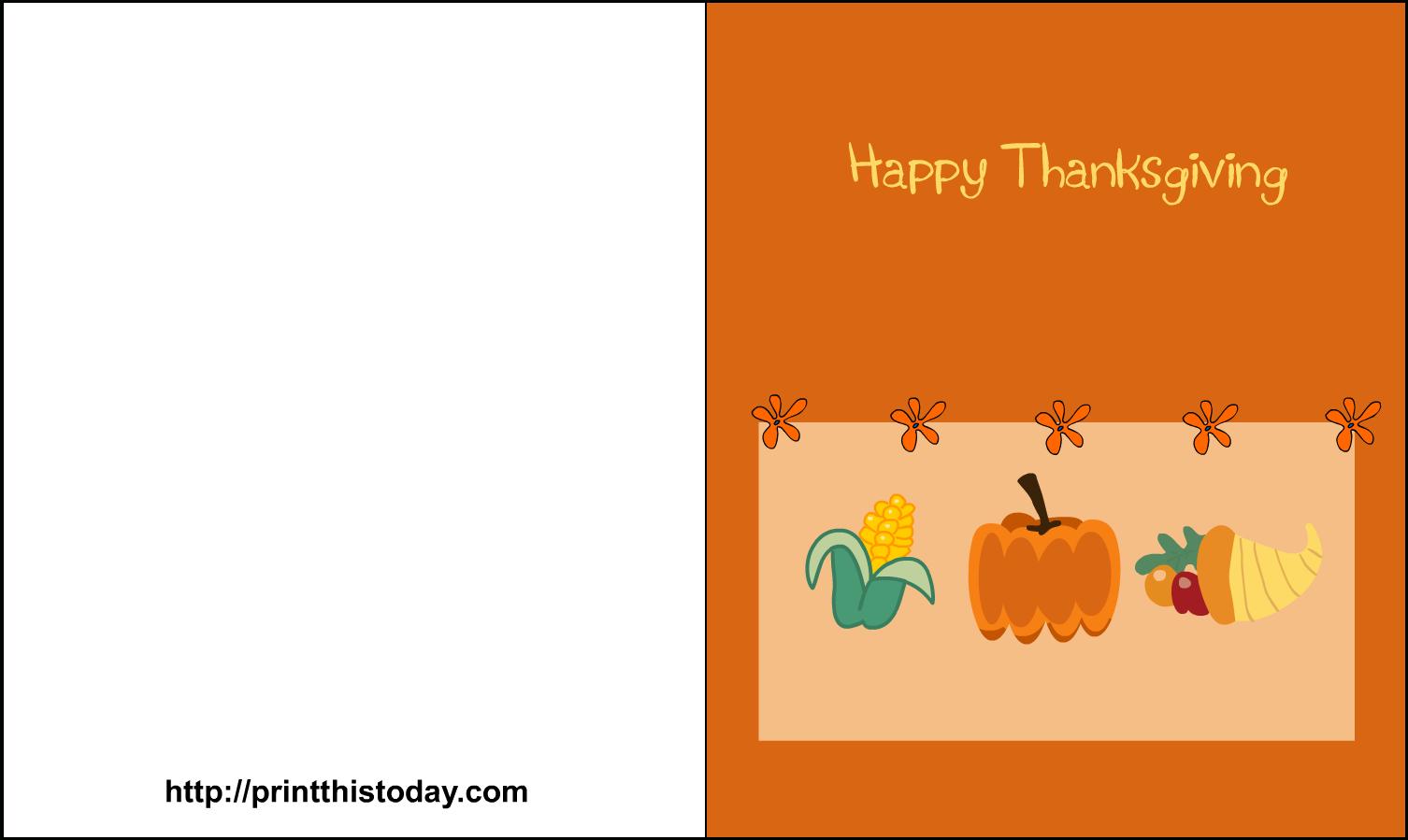 Download Premium Printable Thanksgiving Note Cards 25 Free Seasonal - Happy Thanksgiving Cards Free Printable