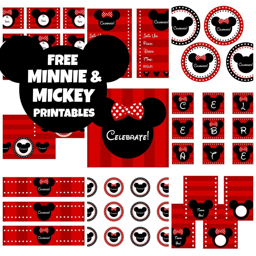 Download These Awesome Free Mickey & Minnie Mouse Printables - Free Printable Mickey Mouse Birthday Banner