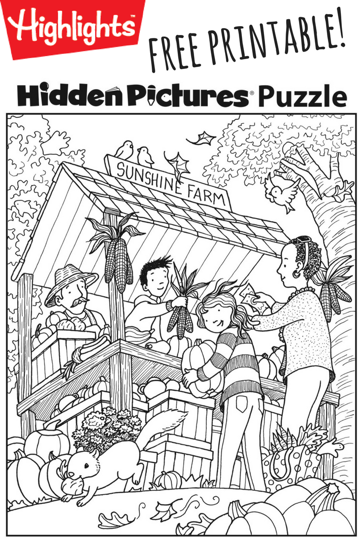 Download This Festive Fall Free Printable Hidden Pictures Puzzle To - Free Printable Hidden Pictures For Adults