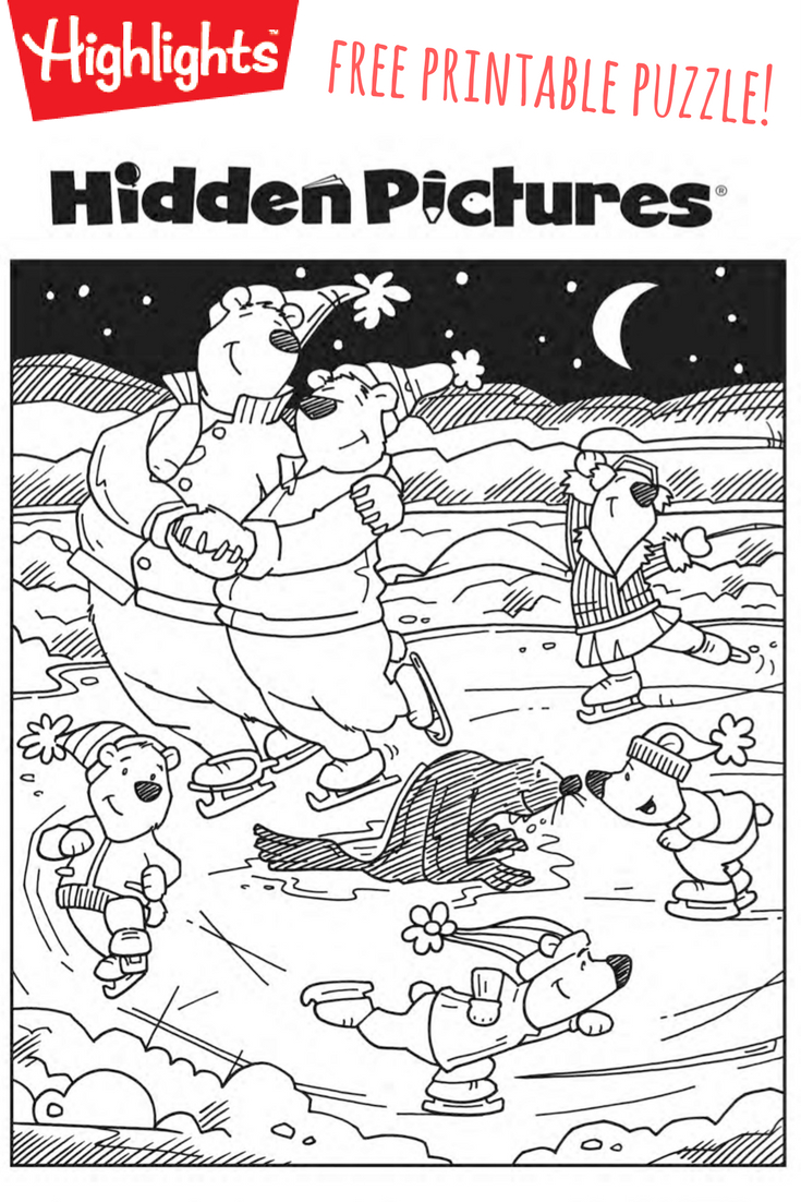 Download This Free Printable Winter Hidden Pictures Puzzle To Share - Free Printable Hidden Pictures For Adults