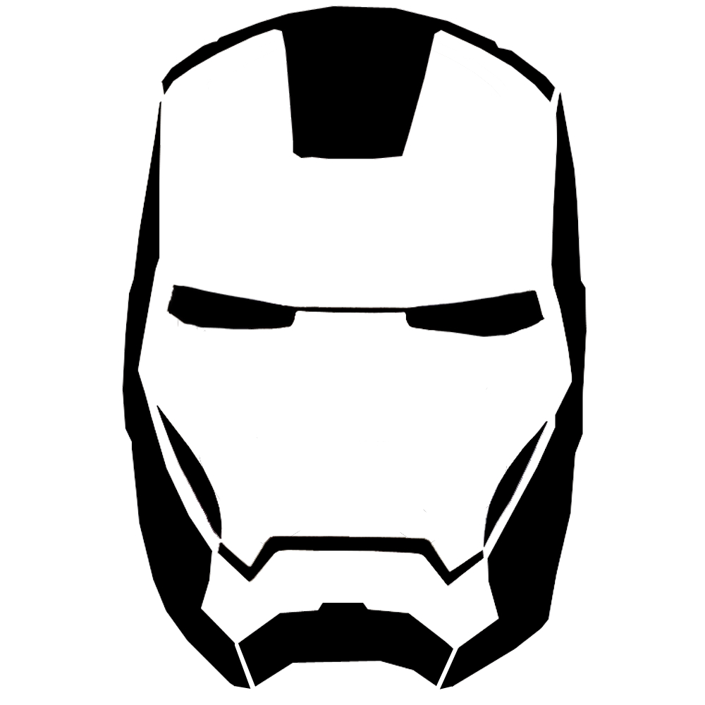 Download Your Free Iron Man Mask Stencil Here. Save Time And Start - Free Printable Ironman Mask