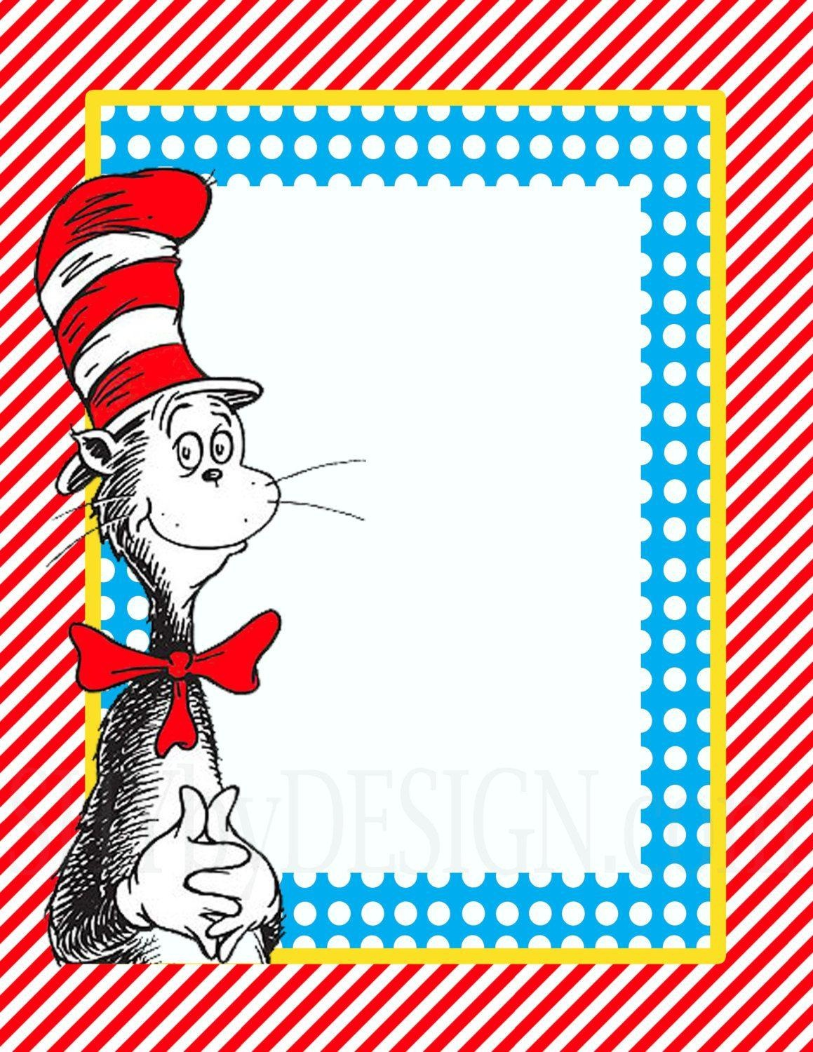 Dr Seuss Border Template - Dr Seuss Free Printable Templates