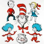 Dr. Seuss Characters | Large Dr. Seuss Characters 2 Sided Classroom   Free Printable Dr Seuss Characters