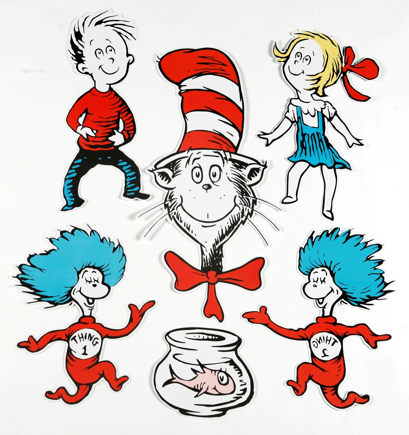 Dr. Seuss Characters | Large Dr. Seuss Characters 2-Sided Classroom - Free Printable Dr Seuss Characters