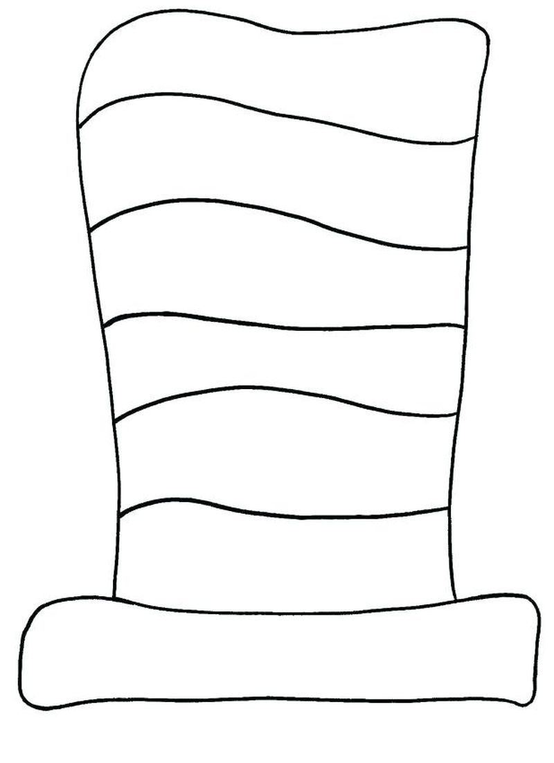 """Dr. Seuss's """"the Cat In The Hat"""" Striped Hat Pattern. Good Idea To - Free Printable Dr Seuss Hat Template"""
