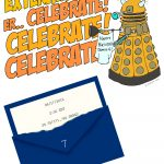 Dr. Who Birthday Party Invitation (Downloadable Template, Too   Doctor Who Party Invitations Printable Free