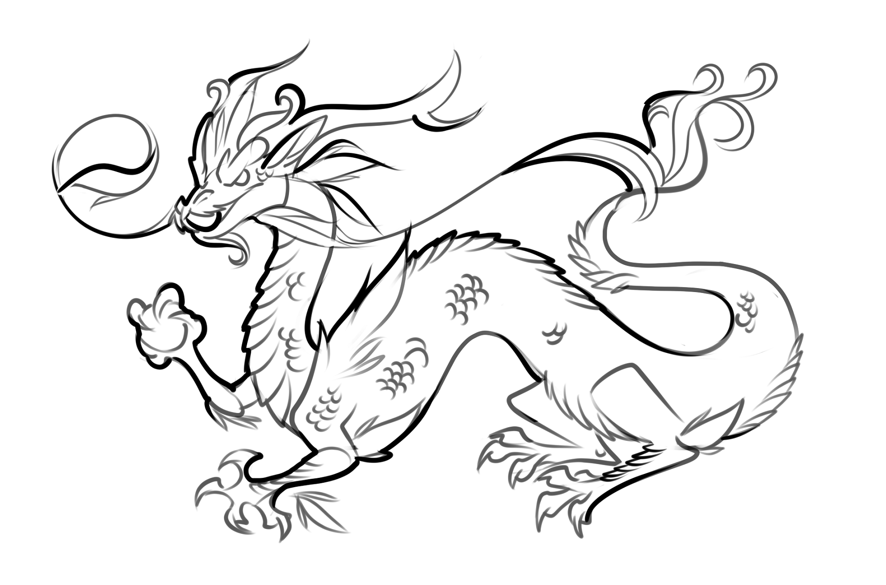 Dragon Coloring Pages Printable | Mythical Creatures Day Camp - Free Printable Chinese Dragon Coloring Pages