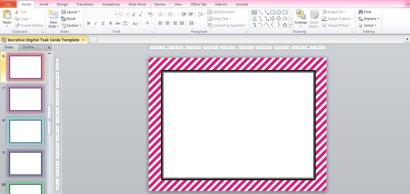 "☆ Rockstar Math Teacher ☆: Socrative 101 - Making ""digital Task Cards"" - Free Printable Blank Task Cards"