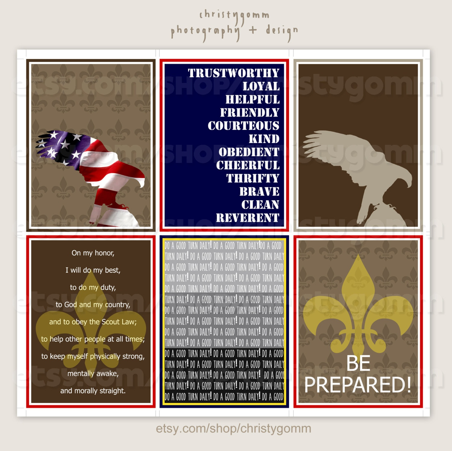 Eagle Boy Scout 3X4 Printable Journal Cards   Etsy - Eagle Scout Cards Free Printable