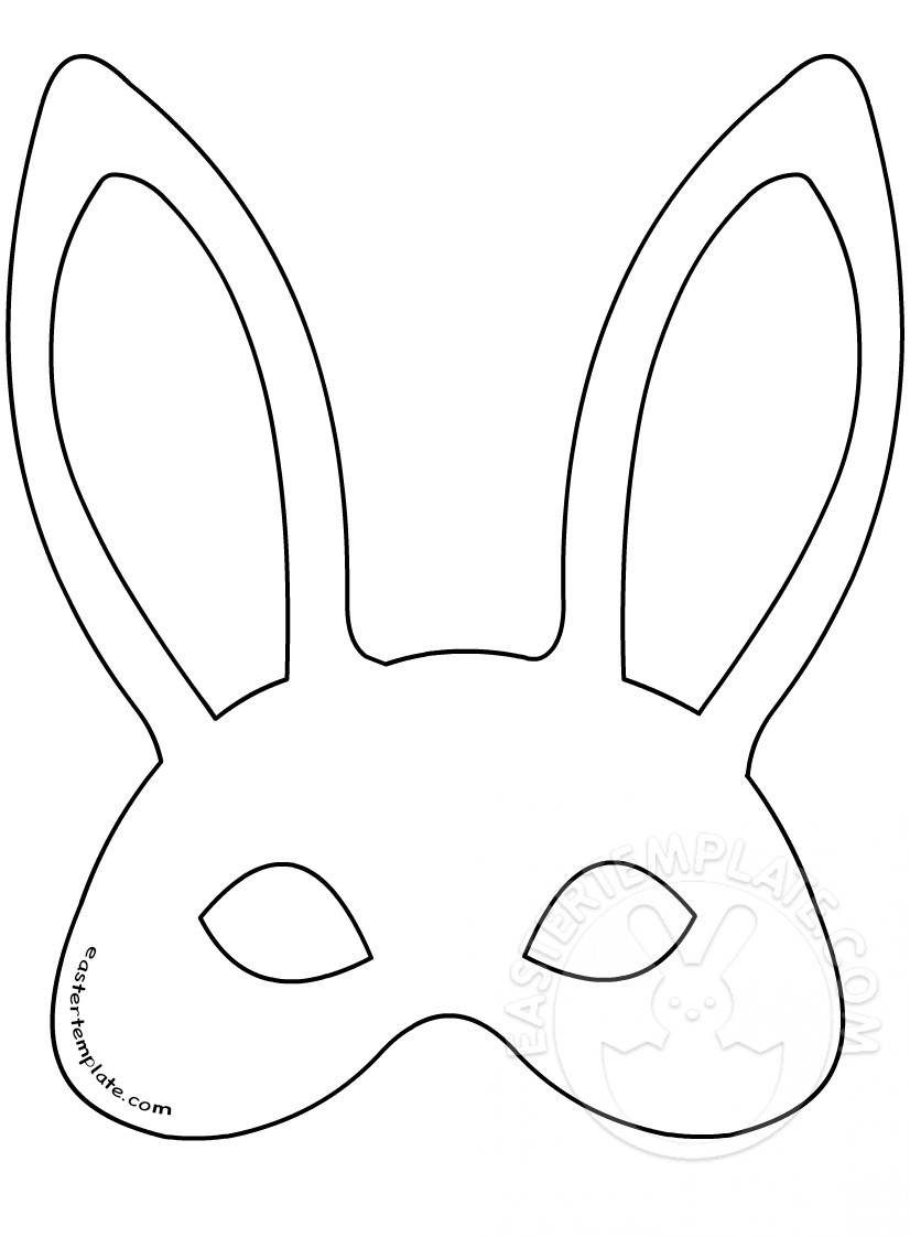 Easter Bunny Mask Template | Easter Template - Free Printable Easter Masks