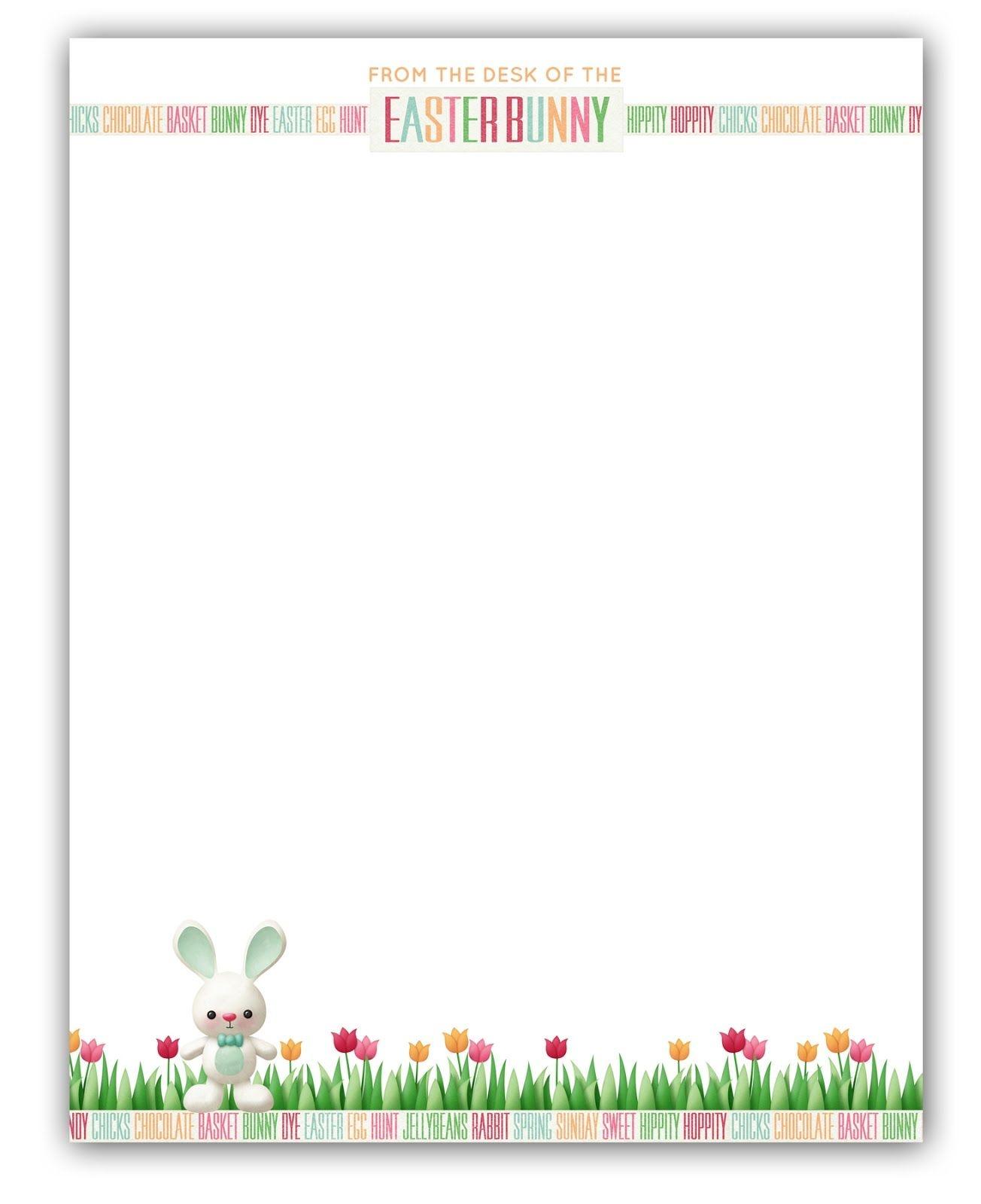 Easter Bunny Stationary | Free Printable | Printable Freebies! In - Free Printable Easter Stationery