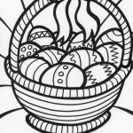 Easter Coloring Pages | Big Easter Basket Coloring Page | Things I   Free Printable Coloring Pages Easter Basket