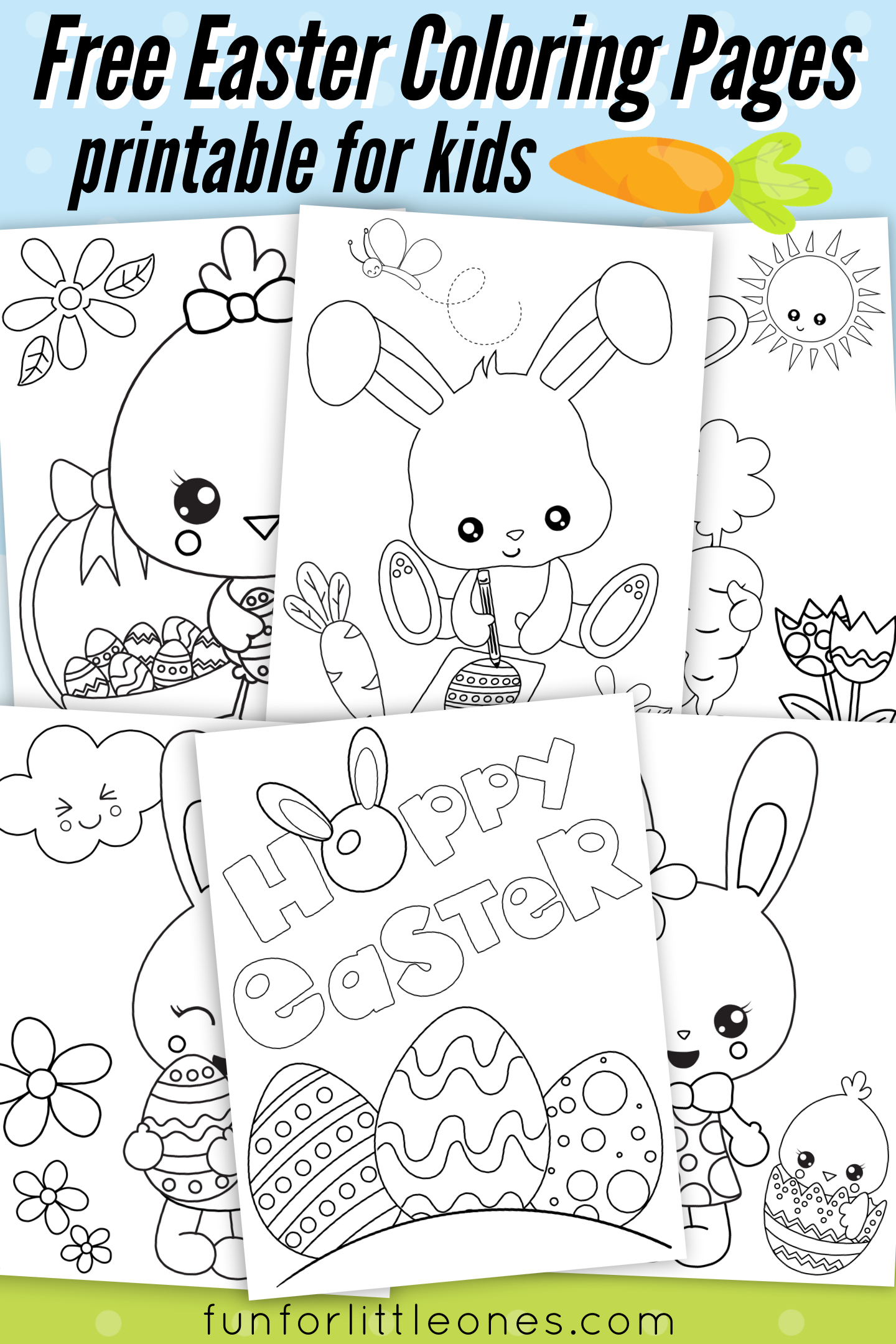 Easter Coloring Pages For Kids (Free Printable) | Fun For Little - Free Printable Easter Coloring Pages For Toddlers