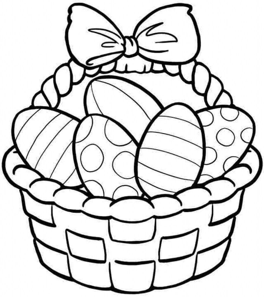 Easter Egg Basket Drawing At Paintingvalley | Explore Collection - Free Printable Coloring Pages Easter Basket
