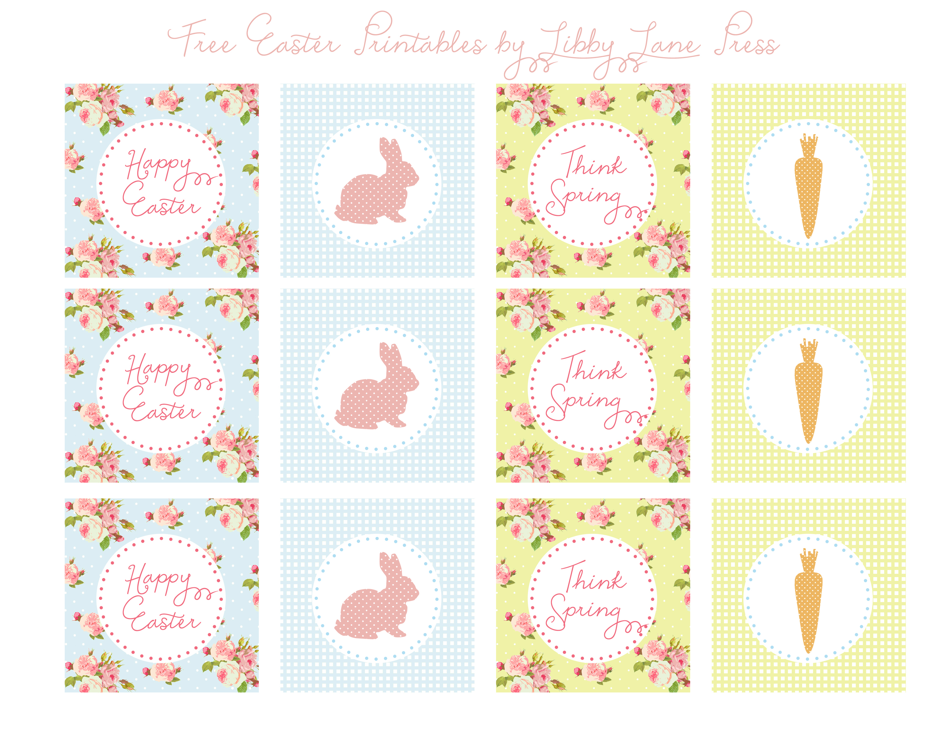Easter Free Printables-Party Circles - The Party Teacher - Free Printable Party Circles
