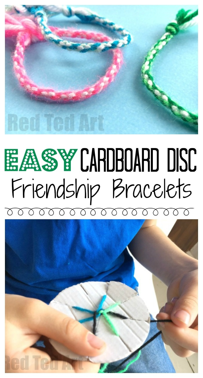Easy Friendship Bracelets With Cardboard Loom - Red Ted Art - Free Printable Friendship Bracelet Patterns