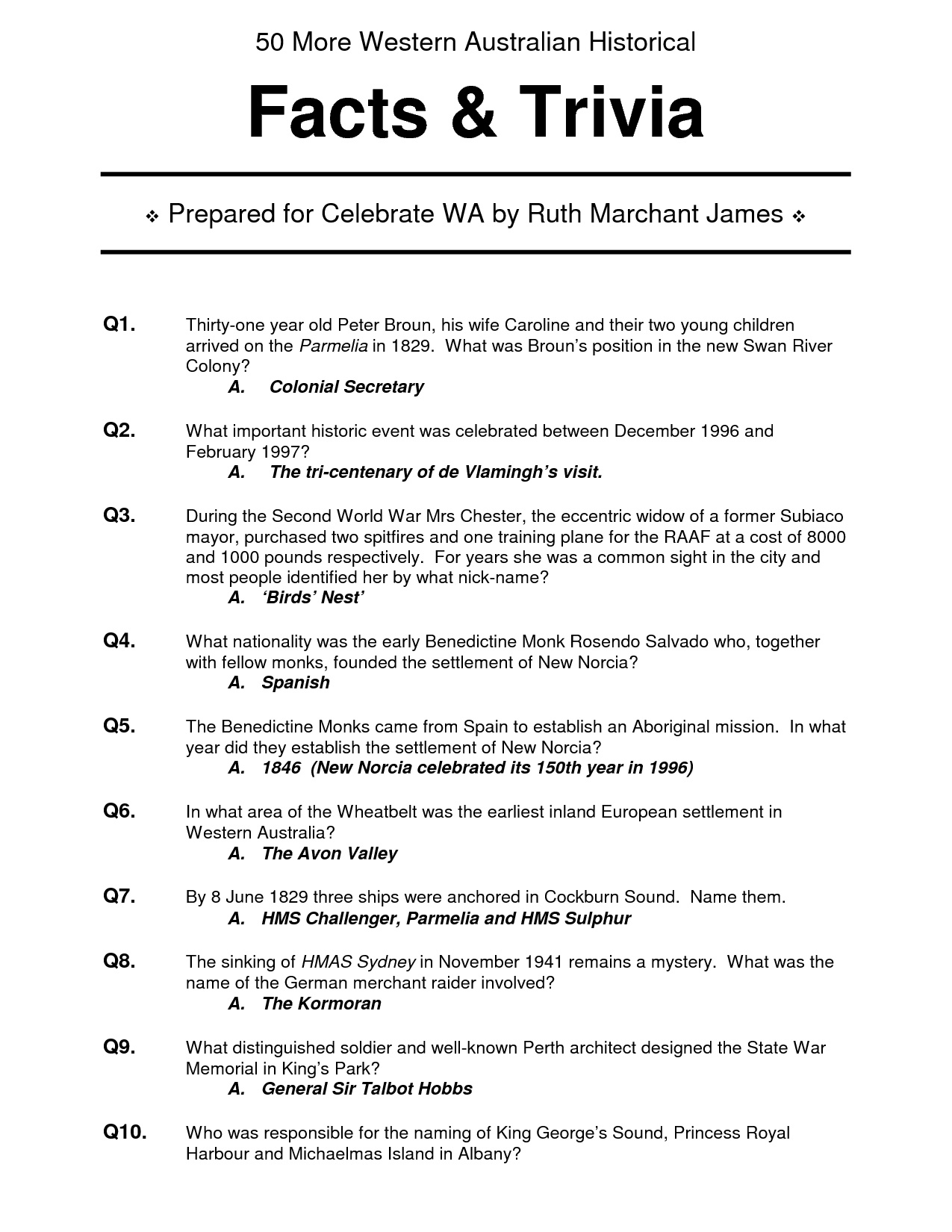 This is a picture of Breathtaking Easy Printable Trivia Questions and Answers for Seniors