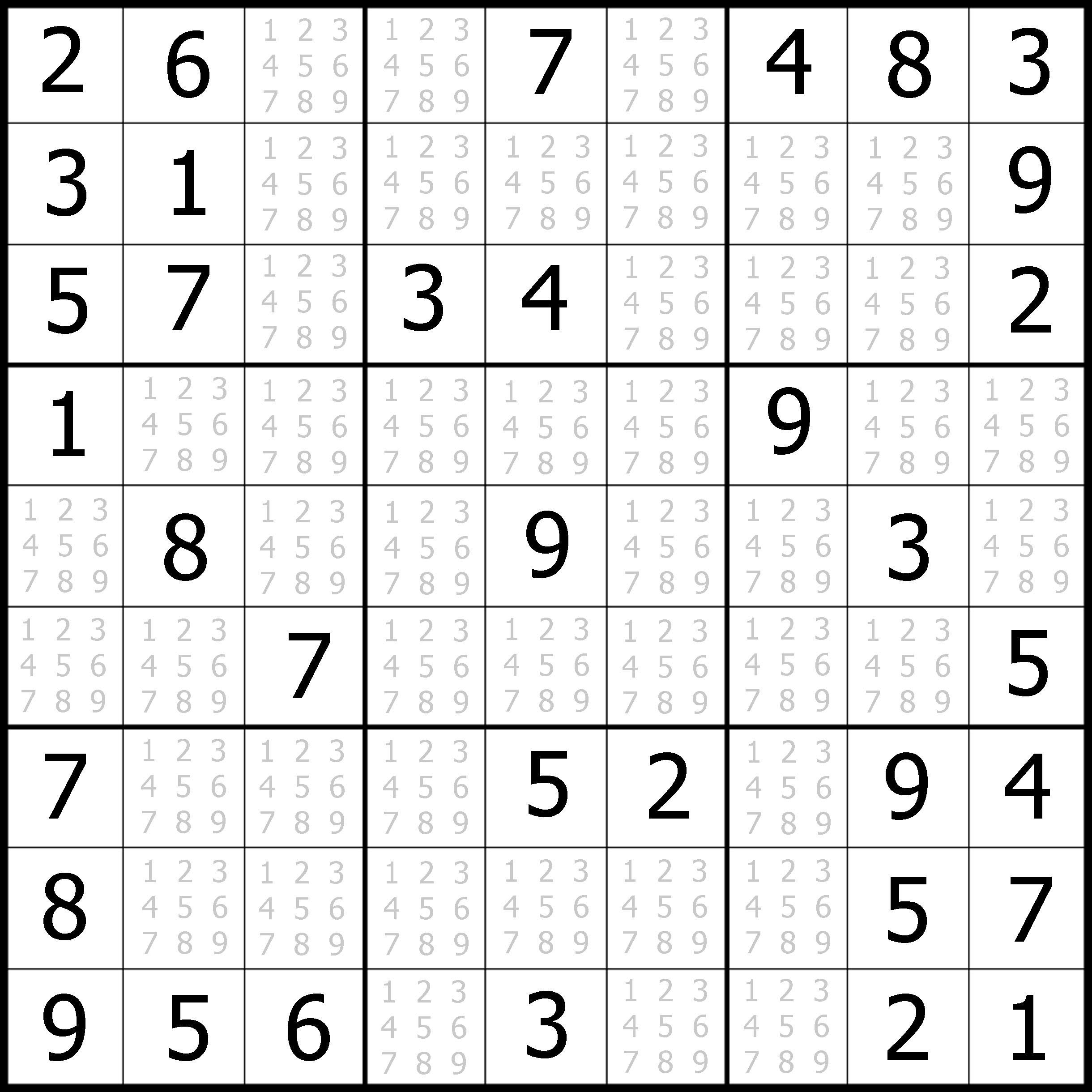 Easy Sudoku Printable | Kids Activities - Free Printable Sudoku With Answers