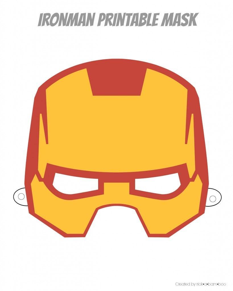 Easy Superhero Mask Template (Free!!) | Halloween Crafts | Superhero - Free Printable Ironman Mask