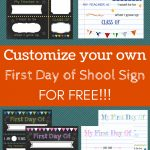 Editable First Day Of School Signs To Edit And Download For Free   First Day Of School Printable Free