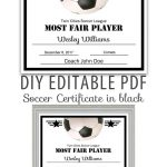 Editable Pdf Sports Team Soccer Certificate Diy Award Template In   Free Printable Soccer Certificate Templates
