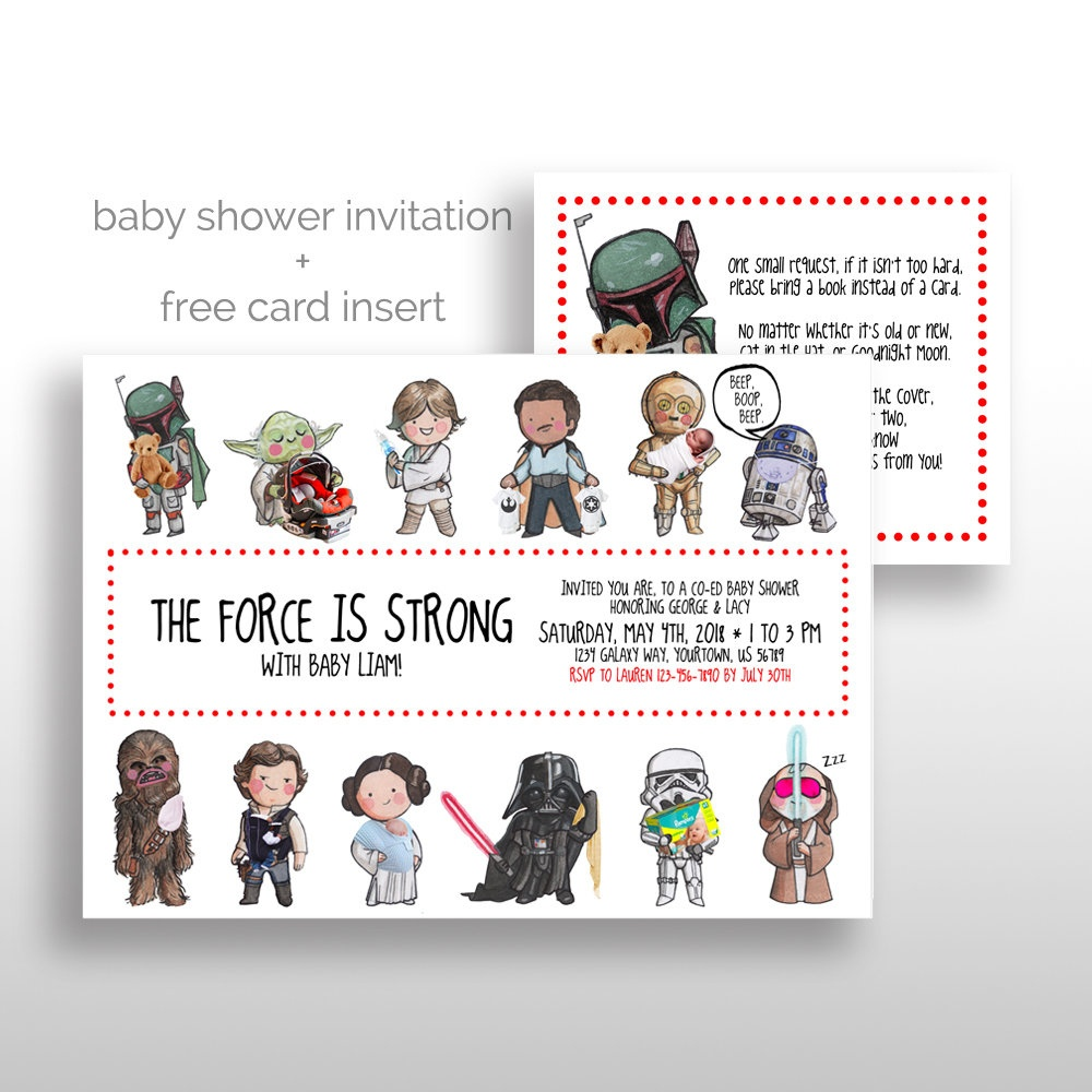 Editable Printable Star Wars Baby Shower Invitations Star | Etsy - Free Printable Star Wars Baby Shower Invites