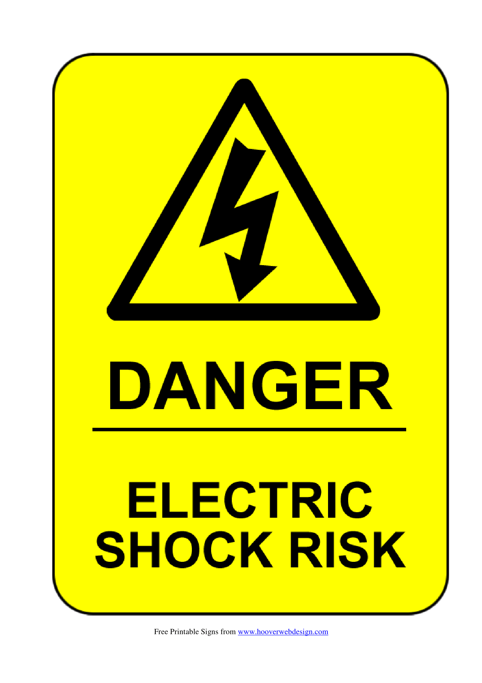 Electrical Safety Signs | Poster Template - Free Printable Safety Signs