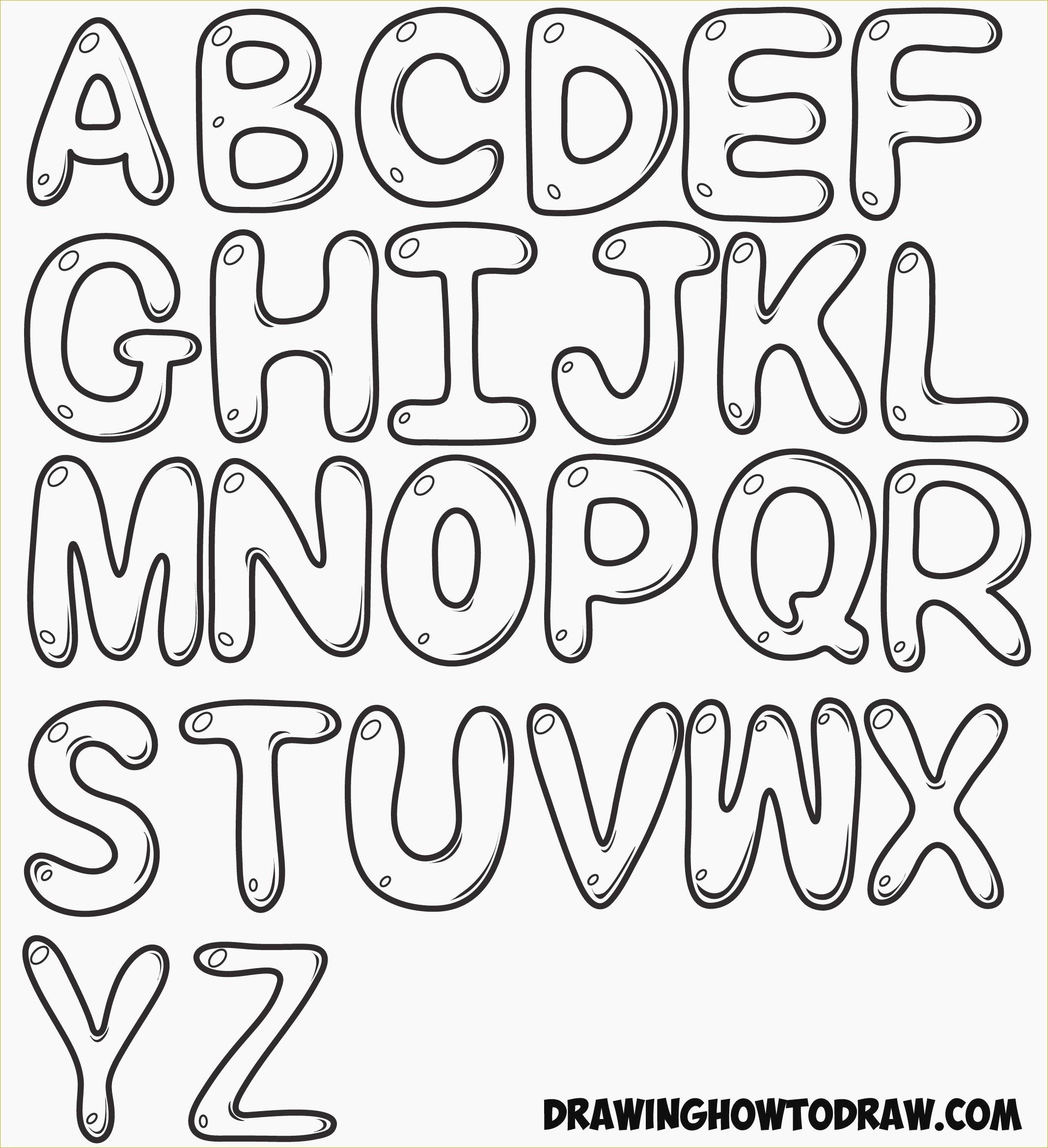 Elegant Free Printable Bubble Letters   Www.pantry-Magic - Free Printable Bubble Letters