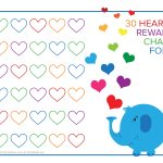 Elephant And Rainbow Hearts Reward Chart   Free Printable Downloads   Free Printable Reward Charts
