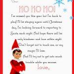 Elf On The Shelf Letter {Free Printable}   Free Printable Elf On The Shelf Notes