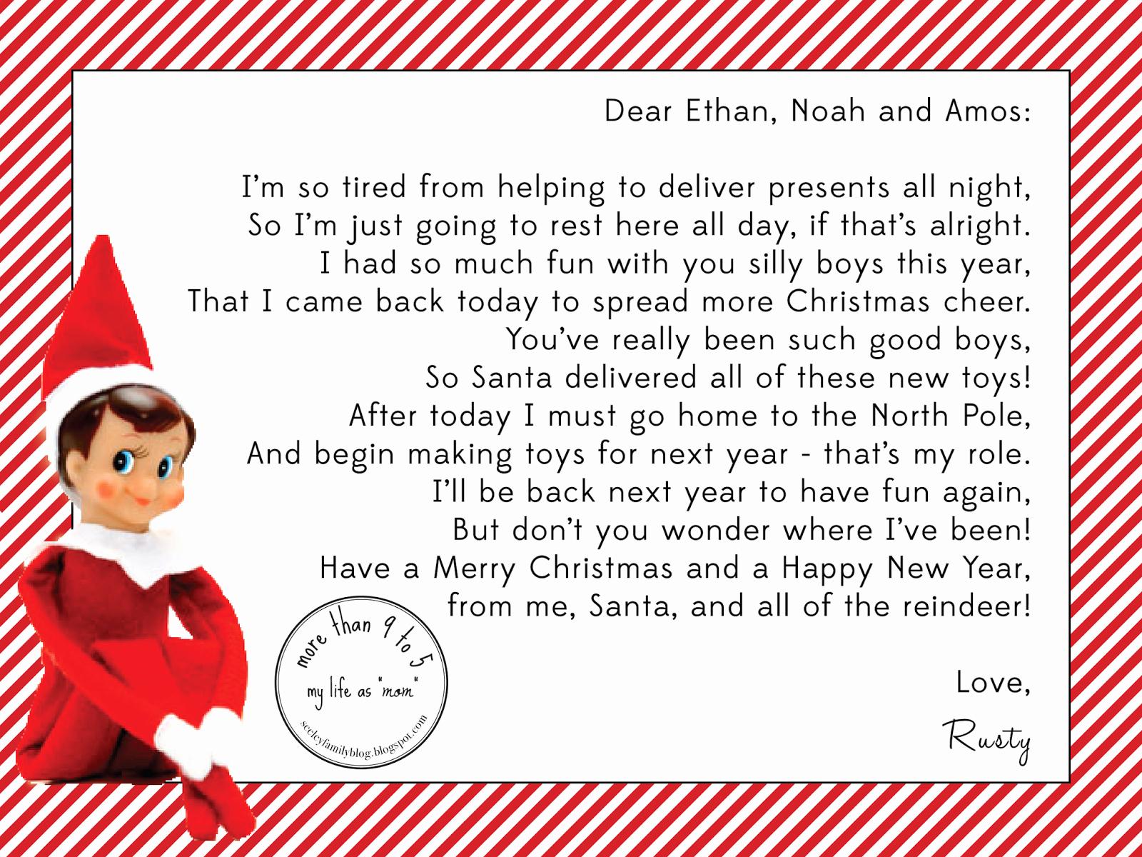 Elf On The Shelf Letterhead 15 Helpful Elf On The Shelf Goodbye - Free Printable Elf On Shelf Arrival Letter