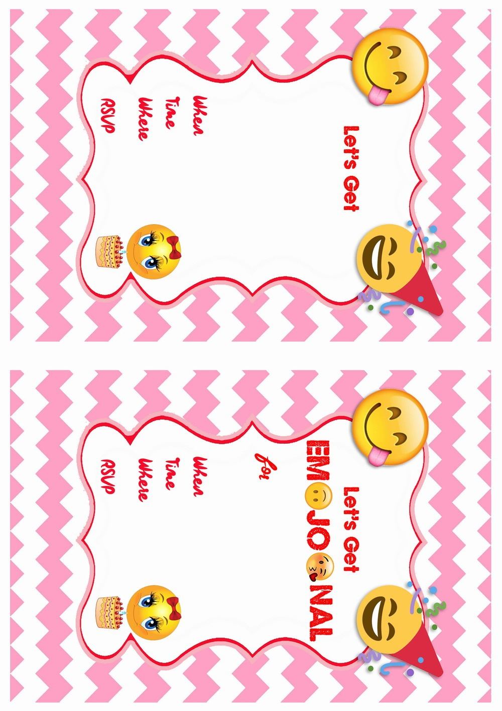 Emoji Birthday Invitations | Birthday Printable - Free Printable Emoji B Day Invites
