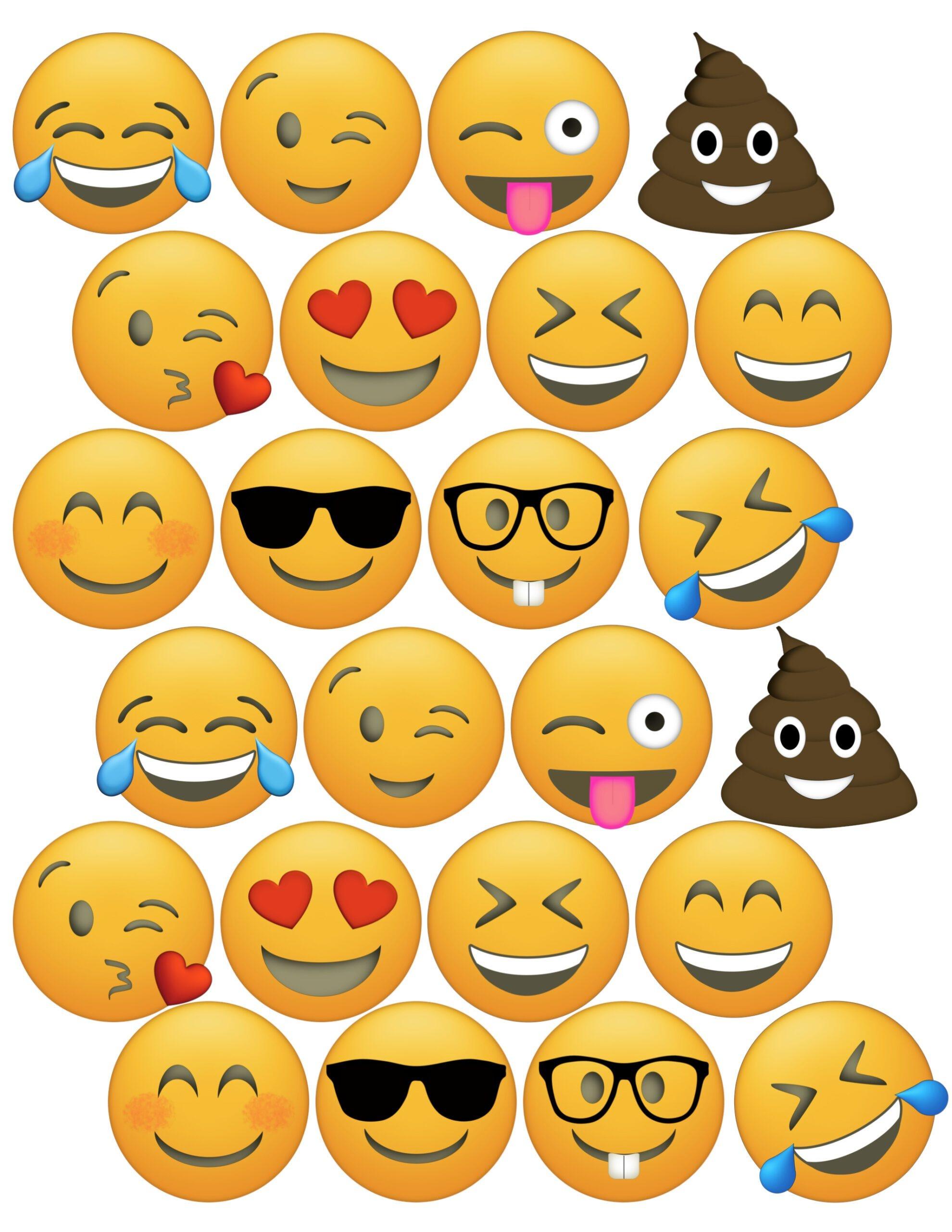 Emoji Cupcake Toppers Free Printable - Paper Trail Design - Cupcake Topper Templates Free Printable