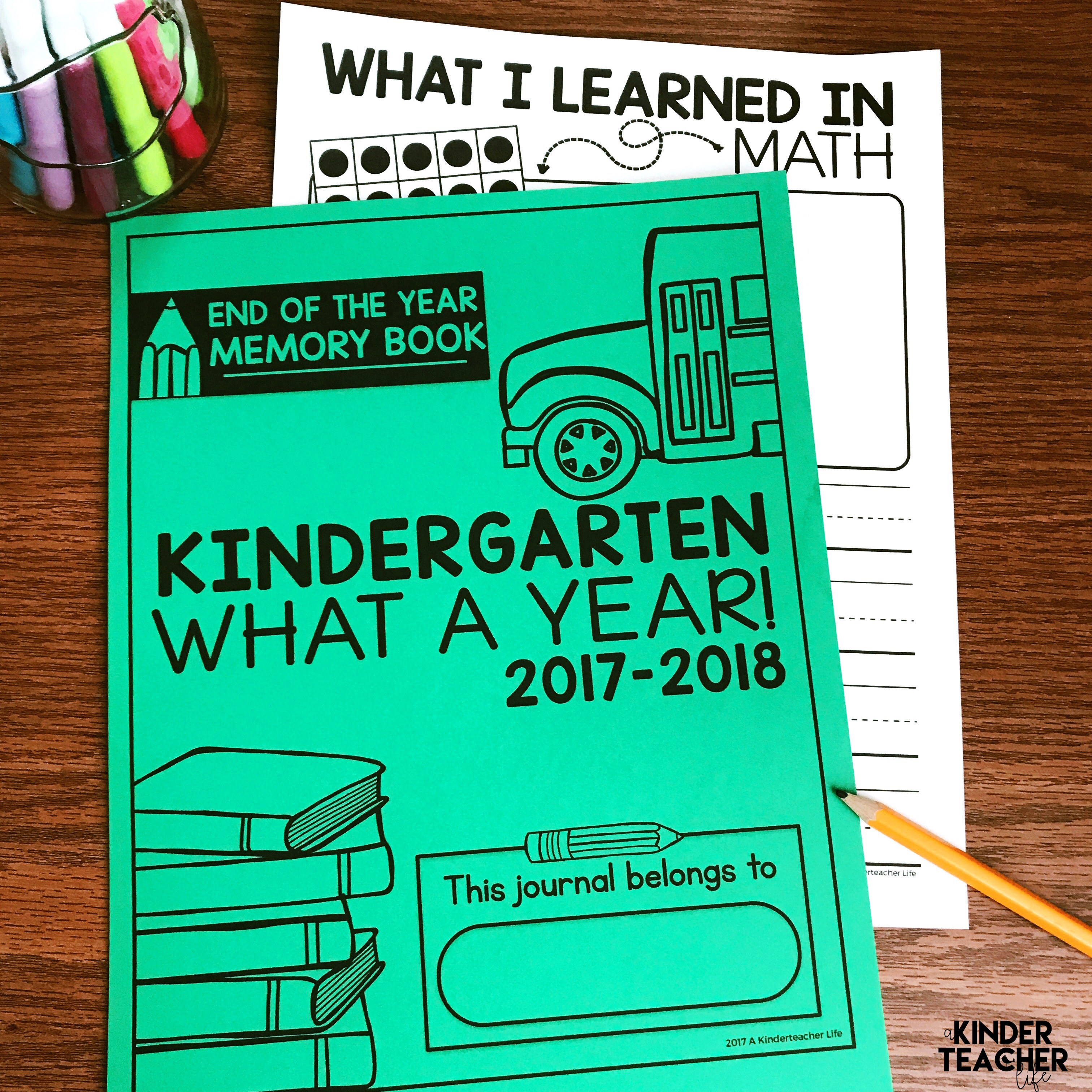 End-Of-The-Year Memory Book {Free Printables!} - A Kinderteacher Life - Free Printable Books For Kindergarten