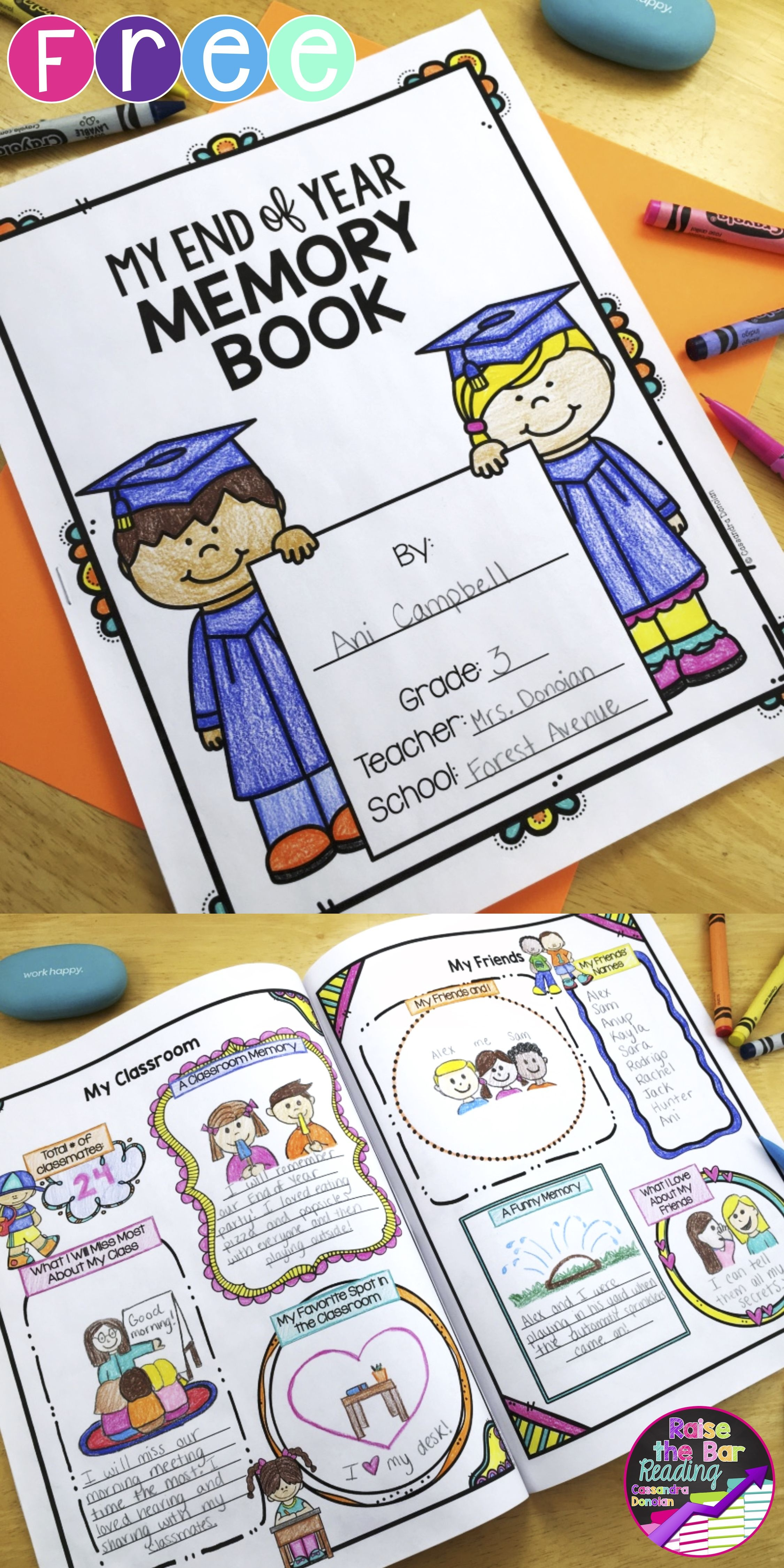 End Of Year Memory Book *free | Raise The Bar Reading Resources - Free Printable Pre K Reading Books