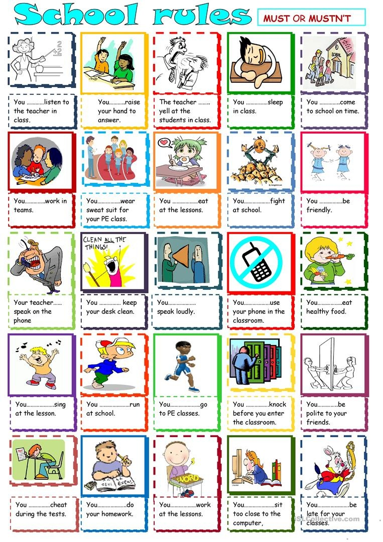 English Esl Classroom Rules Worksheets - Most Downloaded (36 Results) - Free Printable Classroom Rules Worksheets