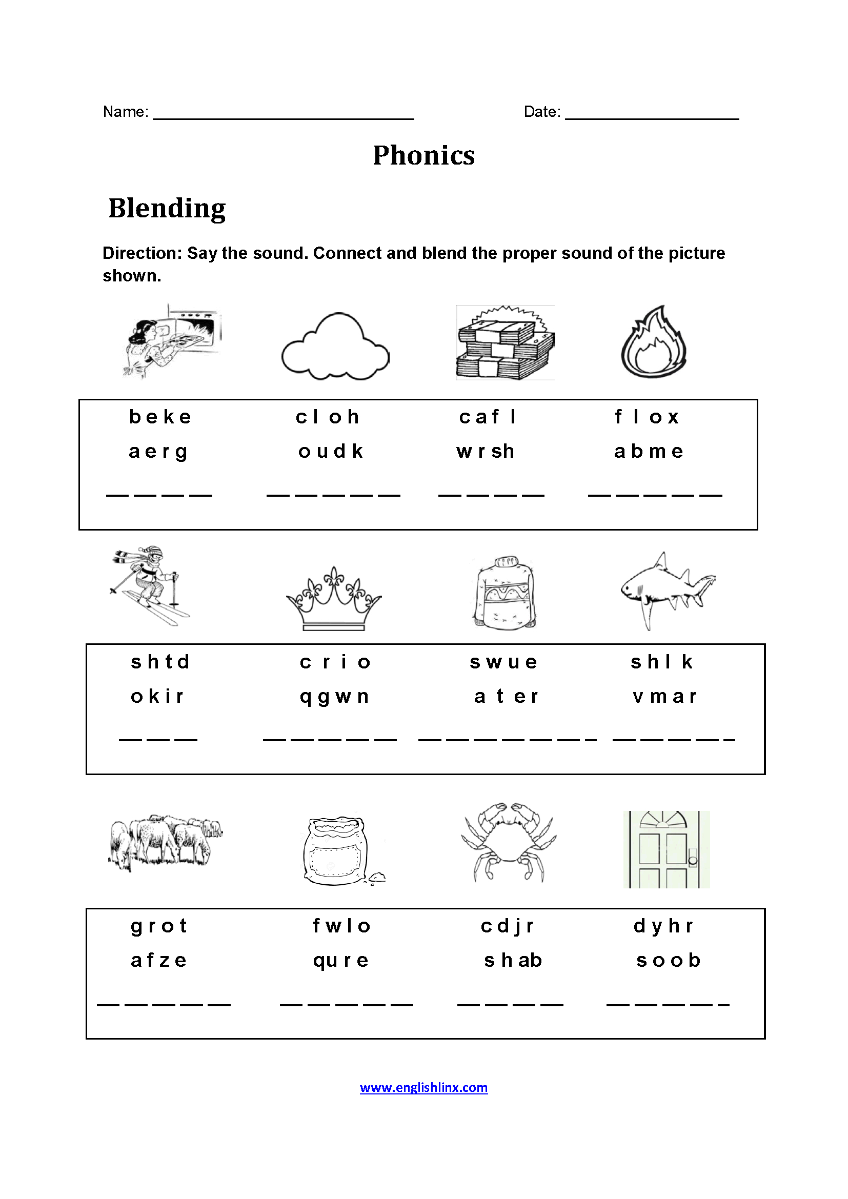 Free Printable Phonics Worksheets For 4Th Grade   Free ...