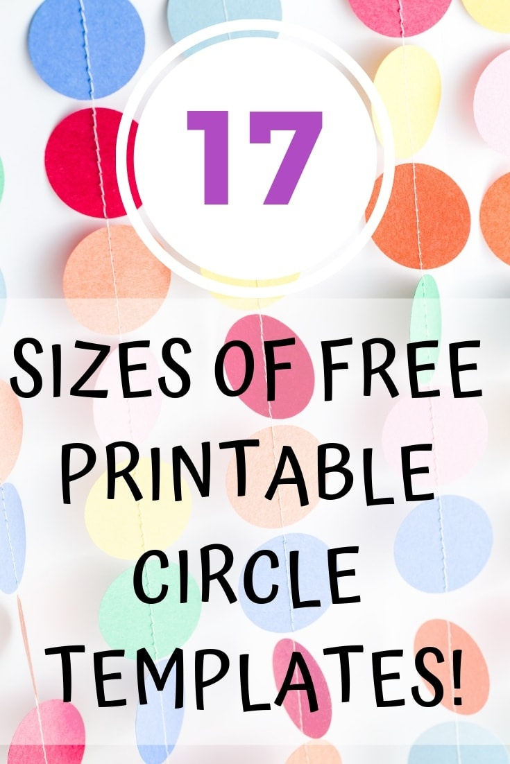 Epic Collection Of Free Printable Circle Templates - Circles From 1 - Free Printable 6 Inch Circle Template