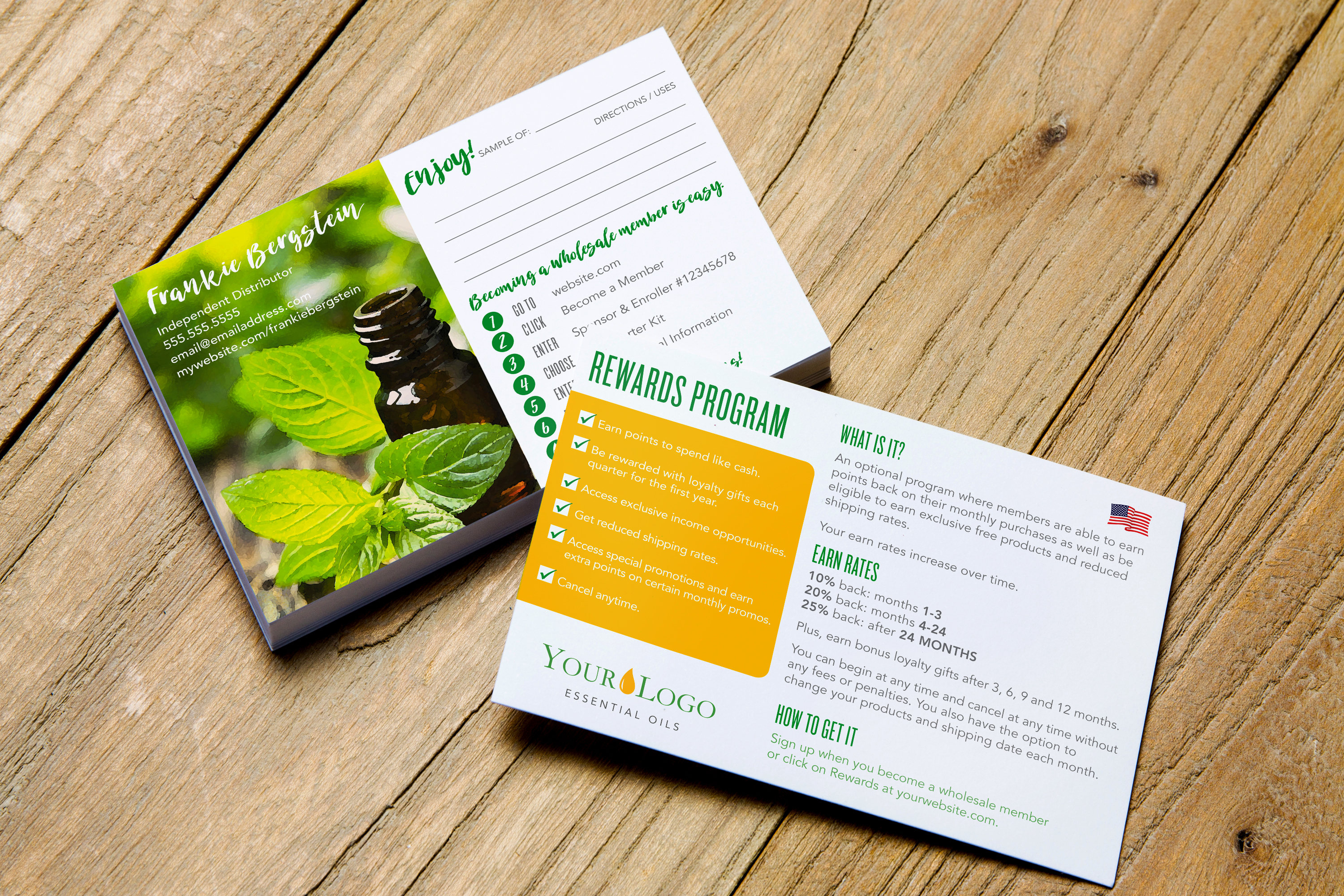 Essential Oil Sample Card W/ Sign-Up Instructions & Reward | Etsy - Free Printable Doterra Sample Cards
