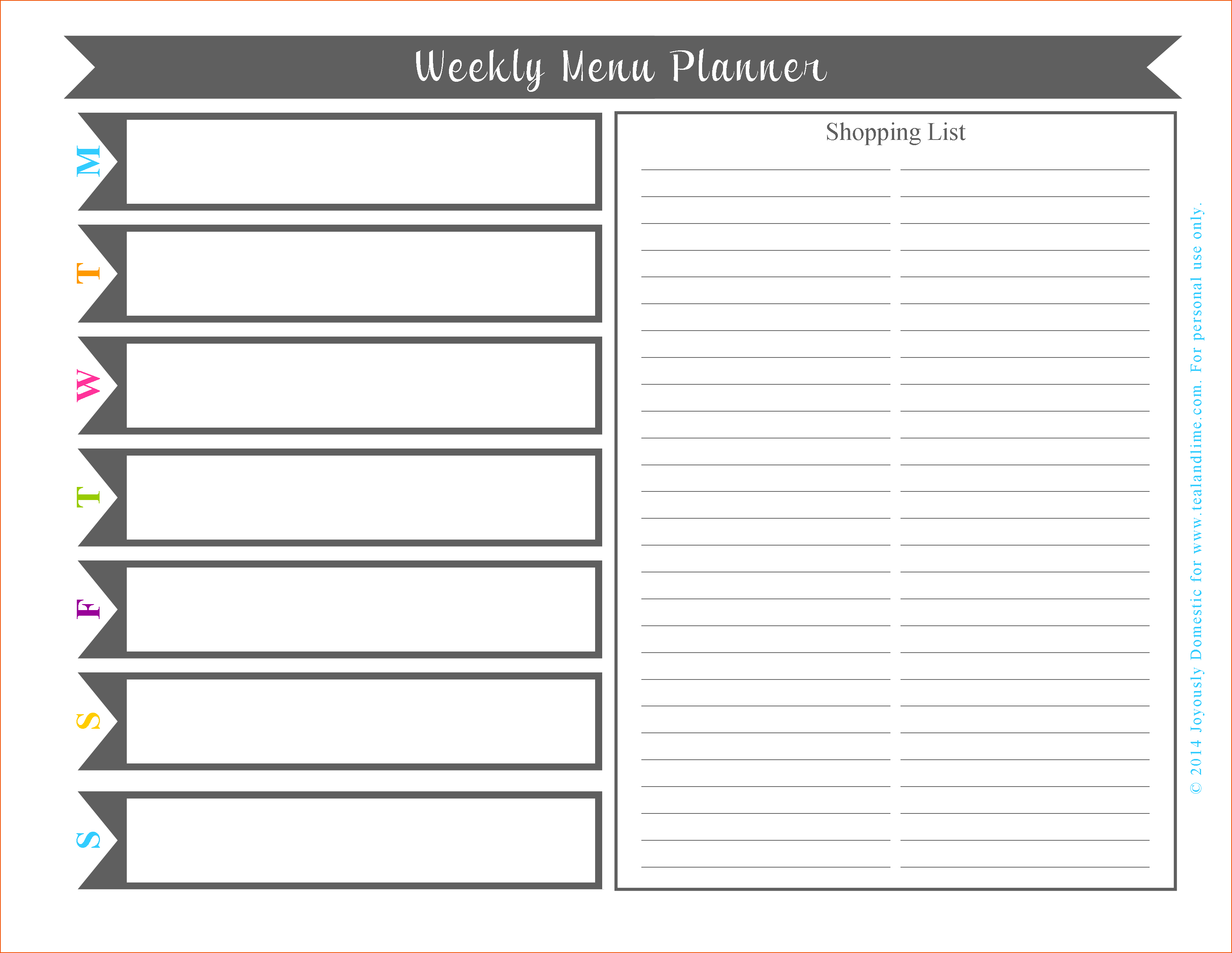 Exceptional Menu Planning Template Word Plan Templates Daily Meal - Free Online Printable Menu Maker