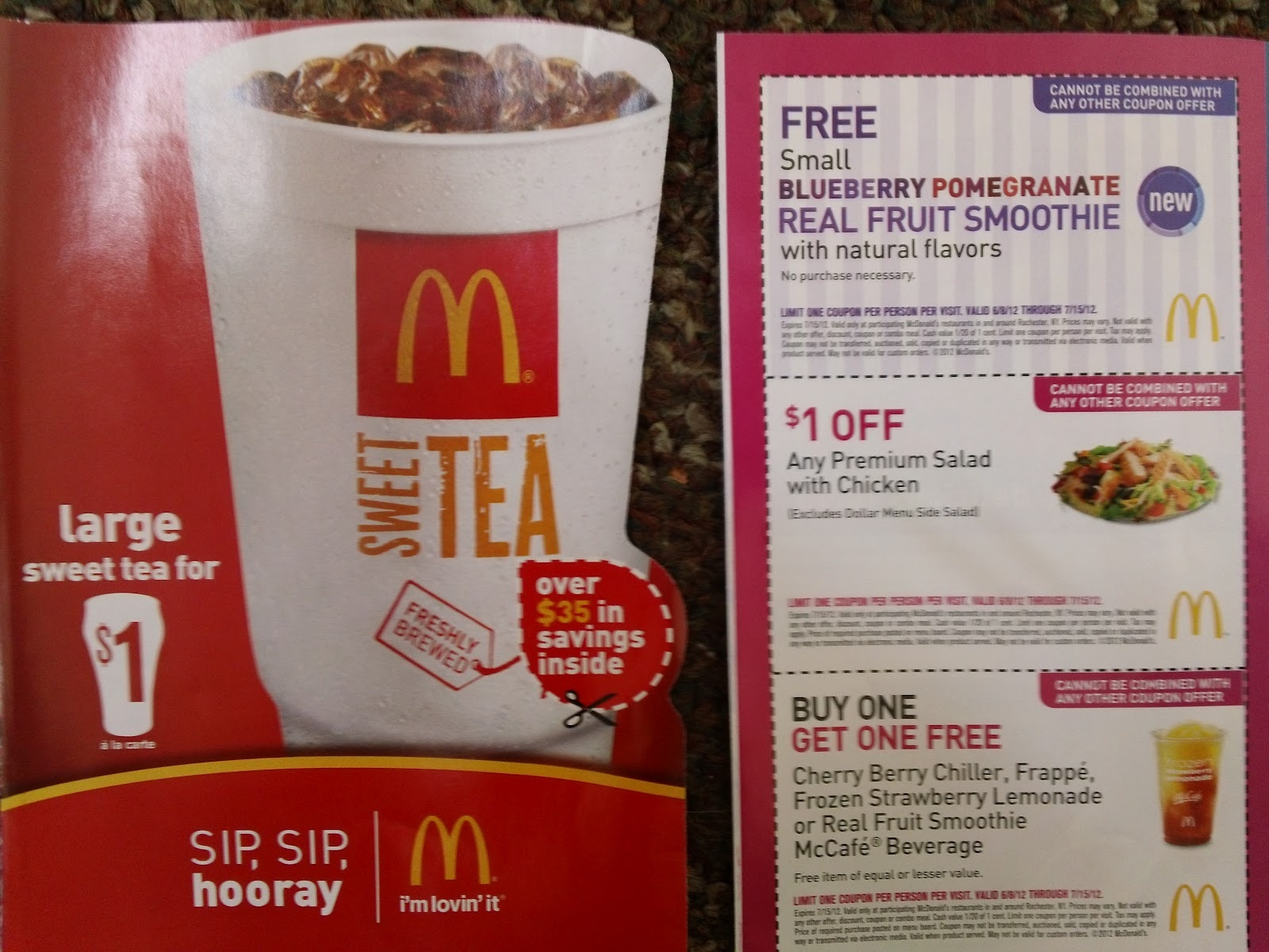 Extreme Couponing Mommy: Free Mcdonalds Small Blueberry Pomegranate - Free Mcdonalds Smoothie Printable Coupon