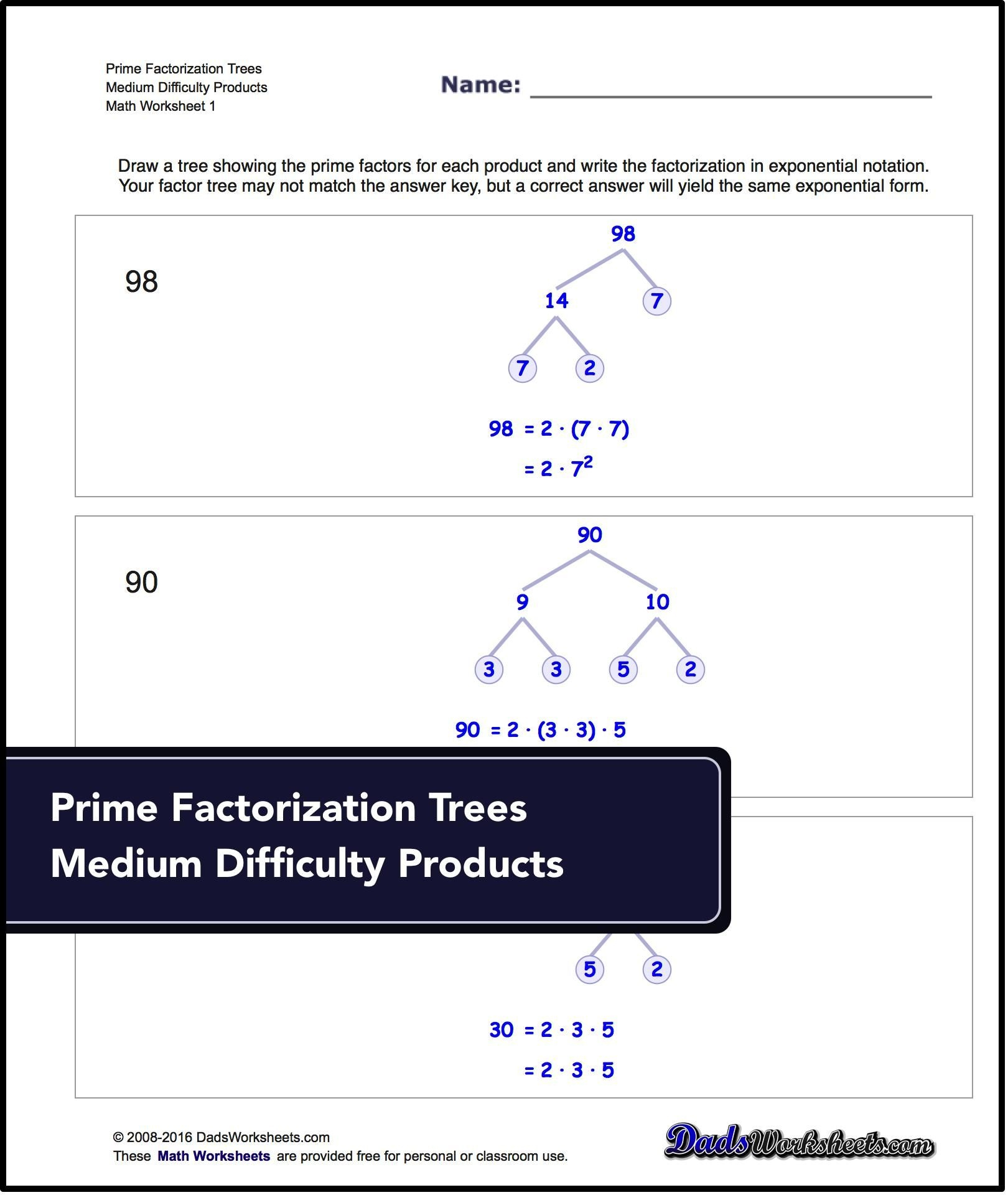 Factorization, Gcd, Lcm: Prime Factorization. These Worksheets - Free Printable Lcm Worksheets