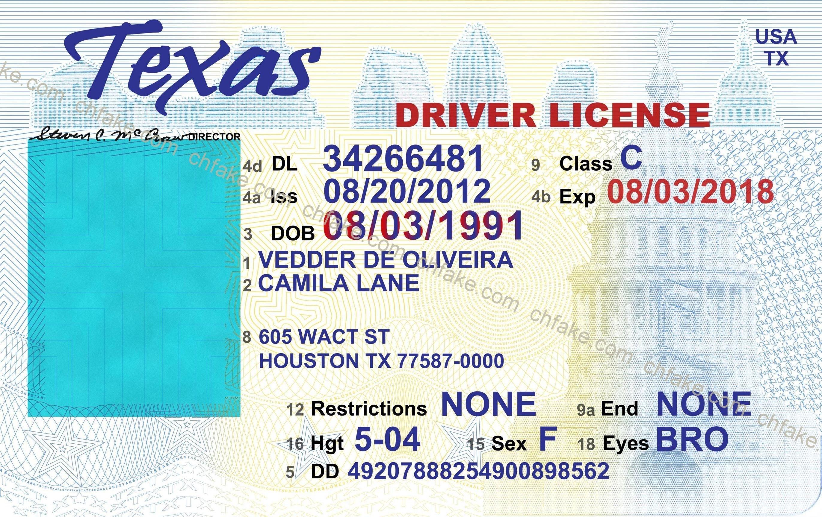 Fake Beepmunk Free Drivers Template Printable License Texas Download - Free Printable Fake Drivers License