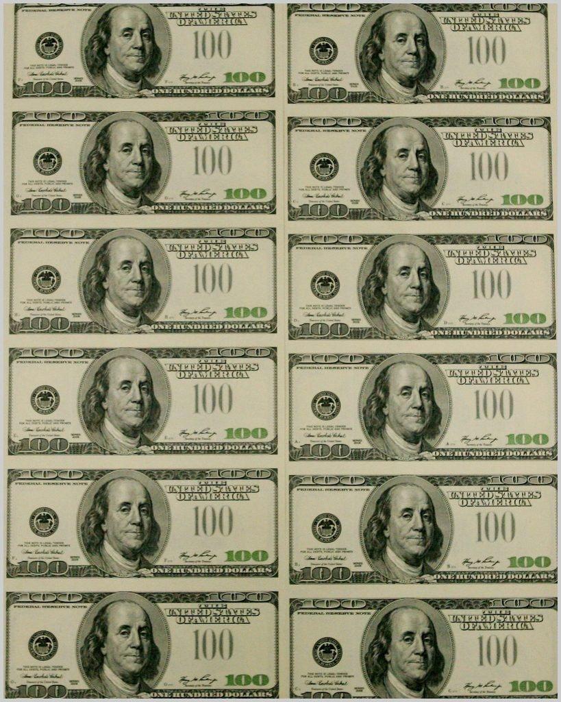 Fake Dollars Printable - Masterprintable - Free Printable 100 Dollar Bill