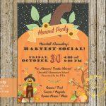 Fall Festival Flyer Invitation Harvest Party Pta Pto School | Etsy   Free Printable Fall Festival Invitations