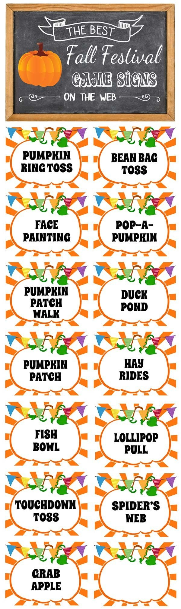 Fall Festival Signs - Free Printable Signs Download! | Fall Festival - Free Printable Fall Festival Invitations