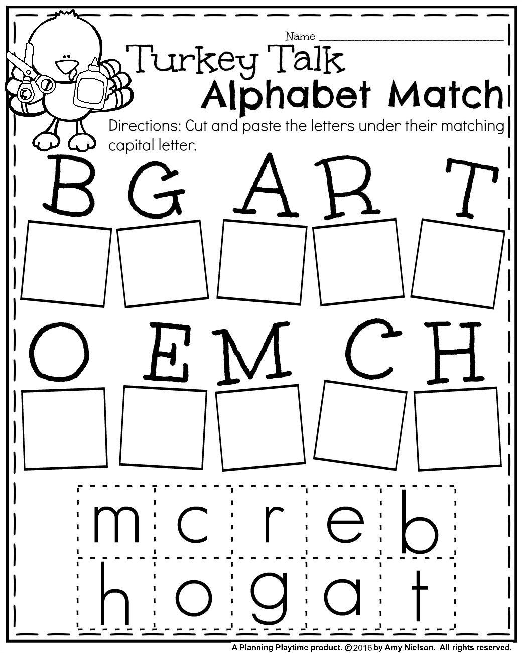 Fall Kindergarten Worksheets For November   Teachers Pay Teachers - Free Printable Kindergarten Worksheets Cut And Paste