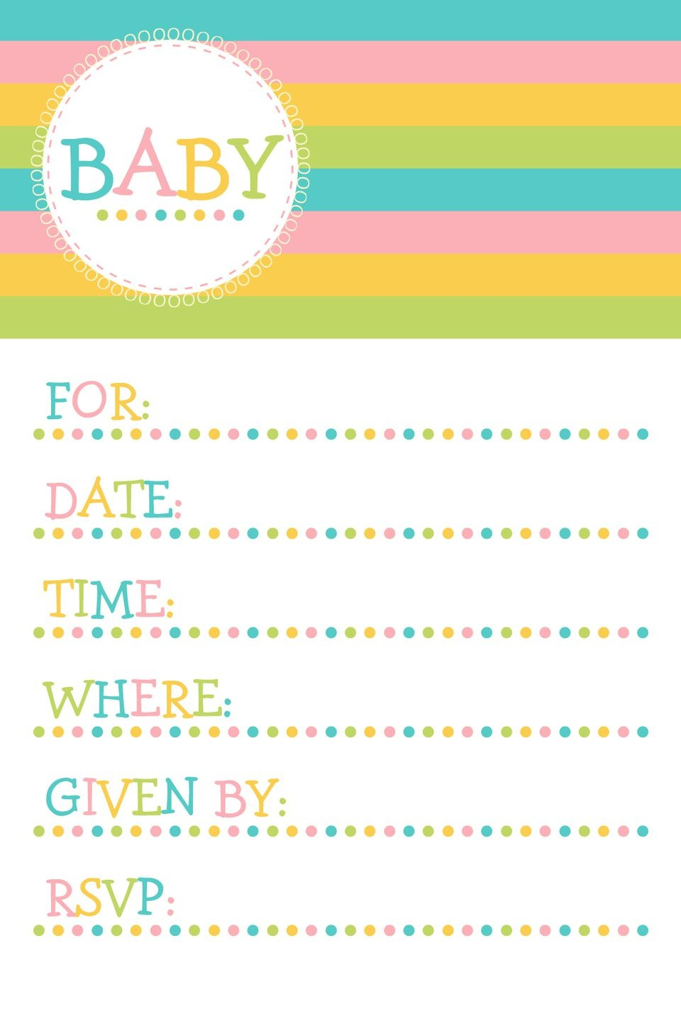 Fancy Baby Shower Invitations Free Printable For Invitation - Free Printable Blank Baby Shower Invitations