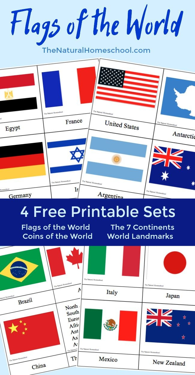 Fantastic Country Flags Of The World With 4 Free Printables | The - Free Printable Flags From Around The World